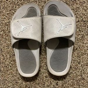 Boys air Jordan leather slides